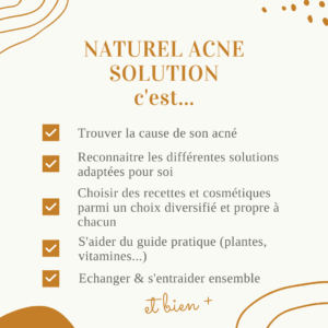 acné solution naturel