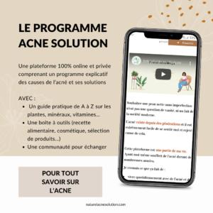 programme anti-acné
